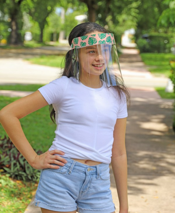 Kids Colorful Monstera Leaves Protective Face Shield