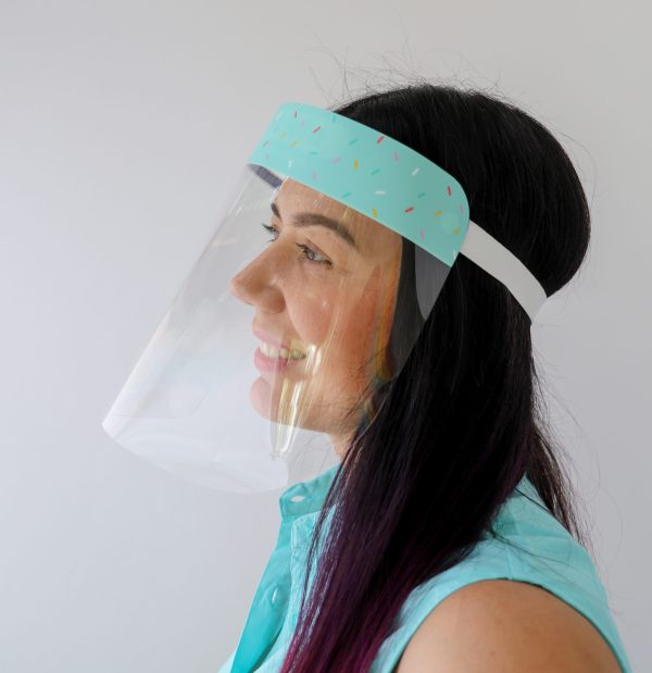 Mint Sprinkles Protective Face Shield Ships from Miami