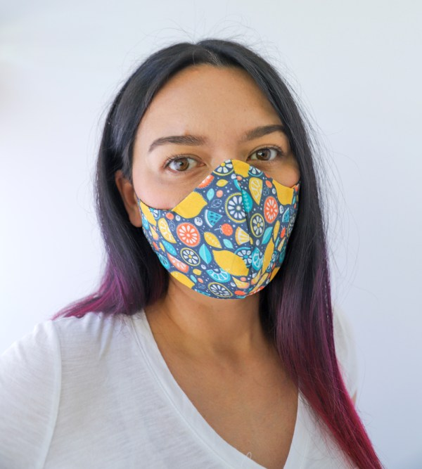 Fruity Reversible, double Sided Cotton Washable Adult Face Mask,Breathable Reversible Mask,Handmade in USA Face Mask