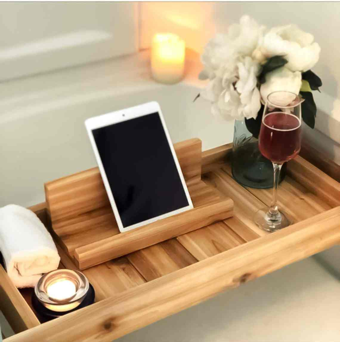 best gifts for her cedar bath tray