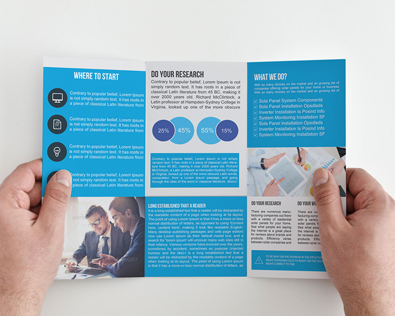 Tri Fold Marketing Brochure Examples