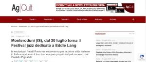 AGCULT: Monteroduni (IS), dal 30 luglio torna il Festival jazz dedicato a Eddie Lang