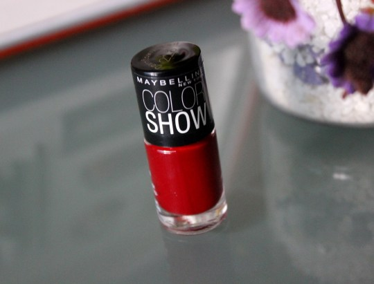 Maybelline Downtown Red Colorshow Polish