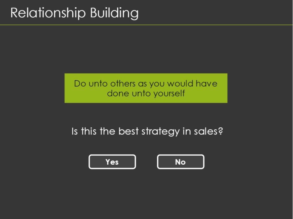 Relationship Building Screen