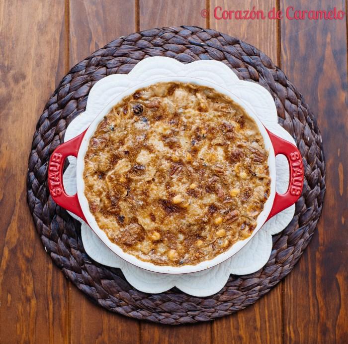 Porridge o gachas de avena con fruta
