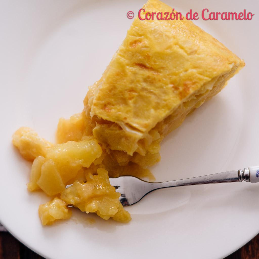 Tortilla de patatas  Receta facilísima