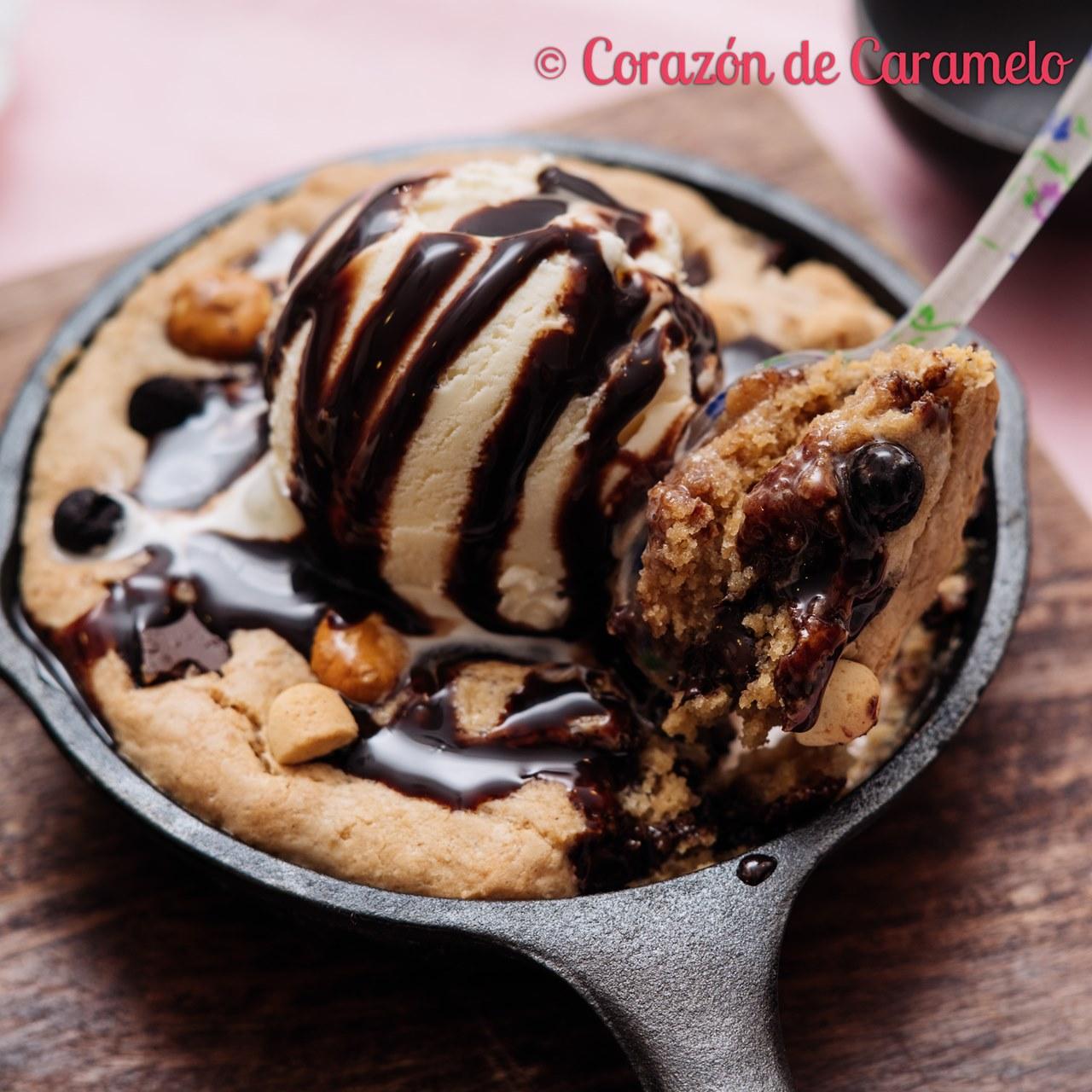 Mega Cookie en sartén