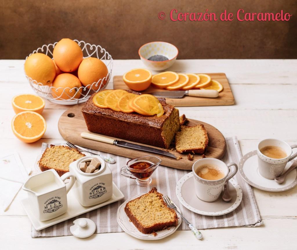 Bizcocho de naranja y semillas de amapola receta