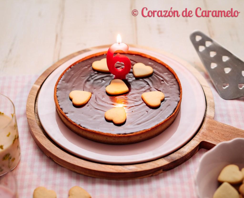 Tarta de chocolate y naranja | El blog cumple 6 años