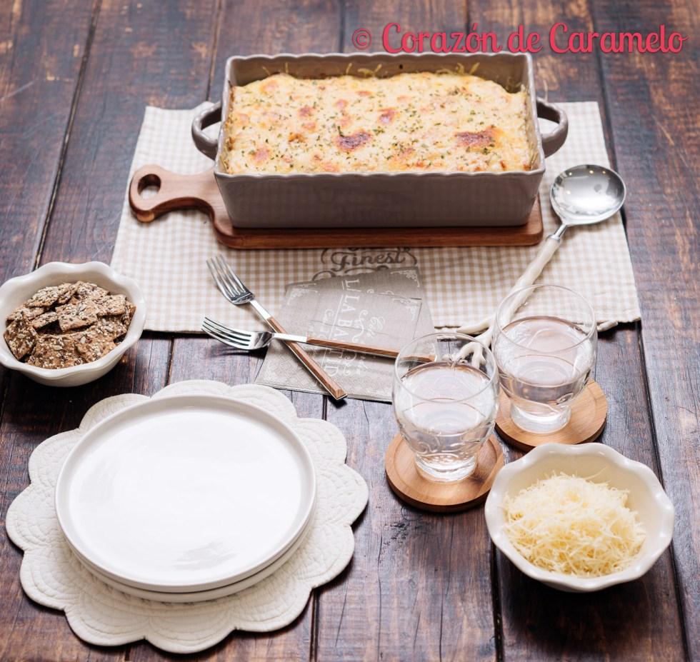 Patatas gratinadas con jamón | Receta facilísima