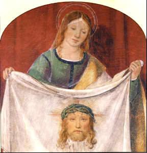 Santa Verónica y el rotro de Jesús