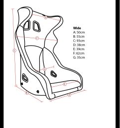 corbeau hexa bucket seat dimensions diagram [ 1289 x 1799 Pixel ]