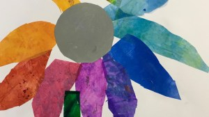 Color Wheel Flower Collages