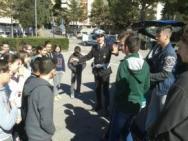 Gli agenti della Municipale salgono in cattedra alla Bonfigli 1