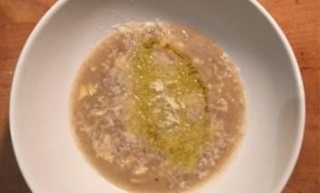 Crema di patate porro e funghi chiodini