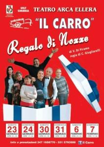 """Spettacoli: la compagnia """"Il Carro"""" porta in scena """"Regalo di Nozze"""" sul palco del Teatro Arca 2"""