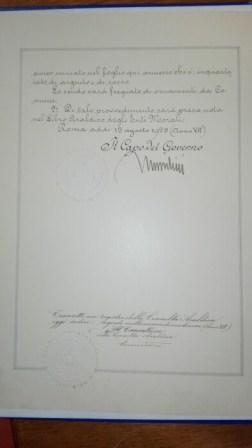 Dagli archivi spunta l'autorizzazione allo Stemma Civico. Era il 1929 ed a firmarlo fu Mussolini 6