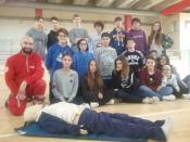 I volontari del Comitato della Croce Rossa docenti speciali per i ragazzi dell'Istituto Benedetto Bonfigli 2