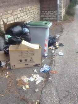 """Rifiuti per strada alla Trinità, l'Associazione: """"Indignati con chi sporca e chi non pulisce"""" 3"""