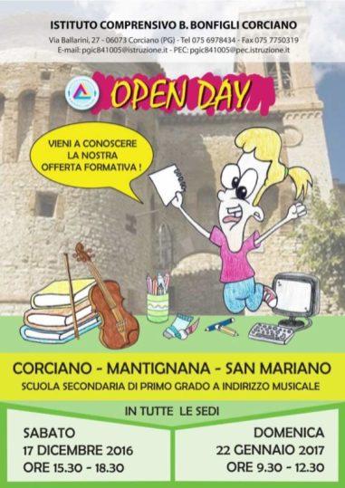 alunni open day scuola corciano-centro ellera-chiugiana mantignana san-mariano
