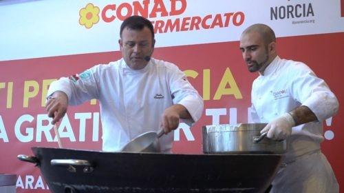 chef cibo fabio campoli I love Norcia norcina quasar village solidarietà terremoto tutti per norcia valnerina cronaca ellera-chiugiana