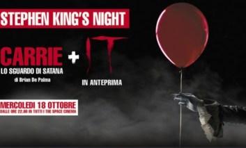 Stephen King's night al The Space: Carrie e il nuovo It in una sola serata.