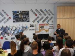 Gli alunni della Bonfigli in visita alla sede della Polizia Municipale di Corciano 2