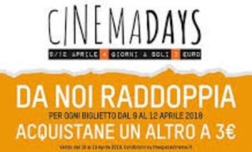 "The Space Cinema ""raddoppia"" i Cinemadays"