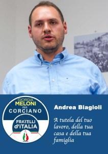 Andrea b 212x300 - Elezioni a Corciano: presentata la lista di Fratelli d'Italia per Franco Testi
