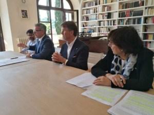 IMG 20180521 112828 300x225 - Ricostruzione: la Fondazione Cucinelli restaura anche il Teatro di Norcia