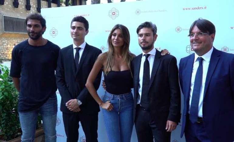 da sx, Francesco Arca, Matteo Angelini, Cristina Buccino, Giovanni Salerno, Marco Angelini