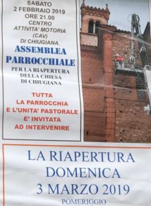 chiesa lavori parrocchia riapertura san pietro apostolo cronaca ellera-chiugiana