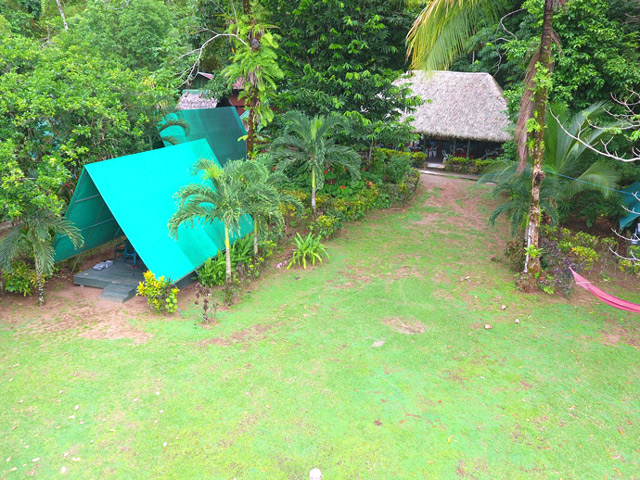 Tent from air