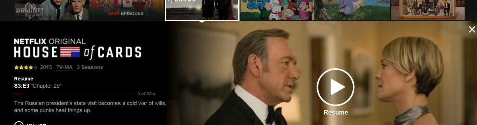 Netflix drop down
