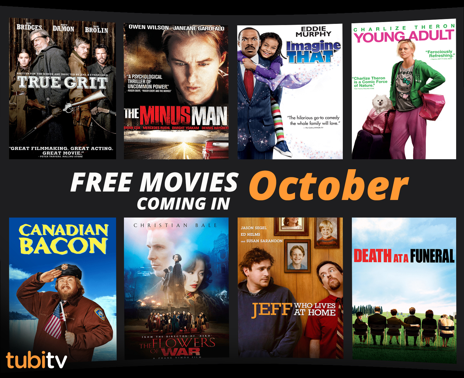Here is Everything Coming to Tubi TV in October the FREE Netflix