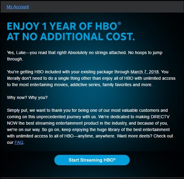 Free HBO on DIRECTV NOW Is Ending Soon - Cord Cutters News