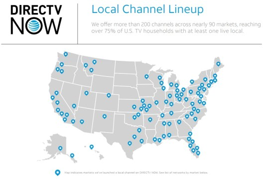 Here is Every Local DIRECTV NOW Currently Offers - Cord