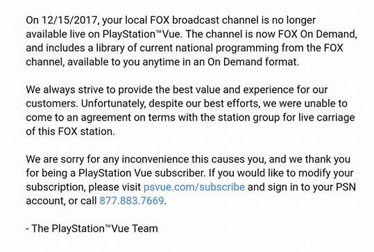 PlayStation Vue Blacks Out FOX Affiliates | Cut The Cable