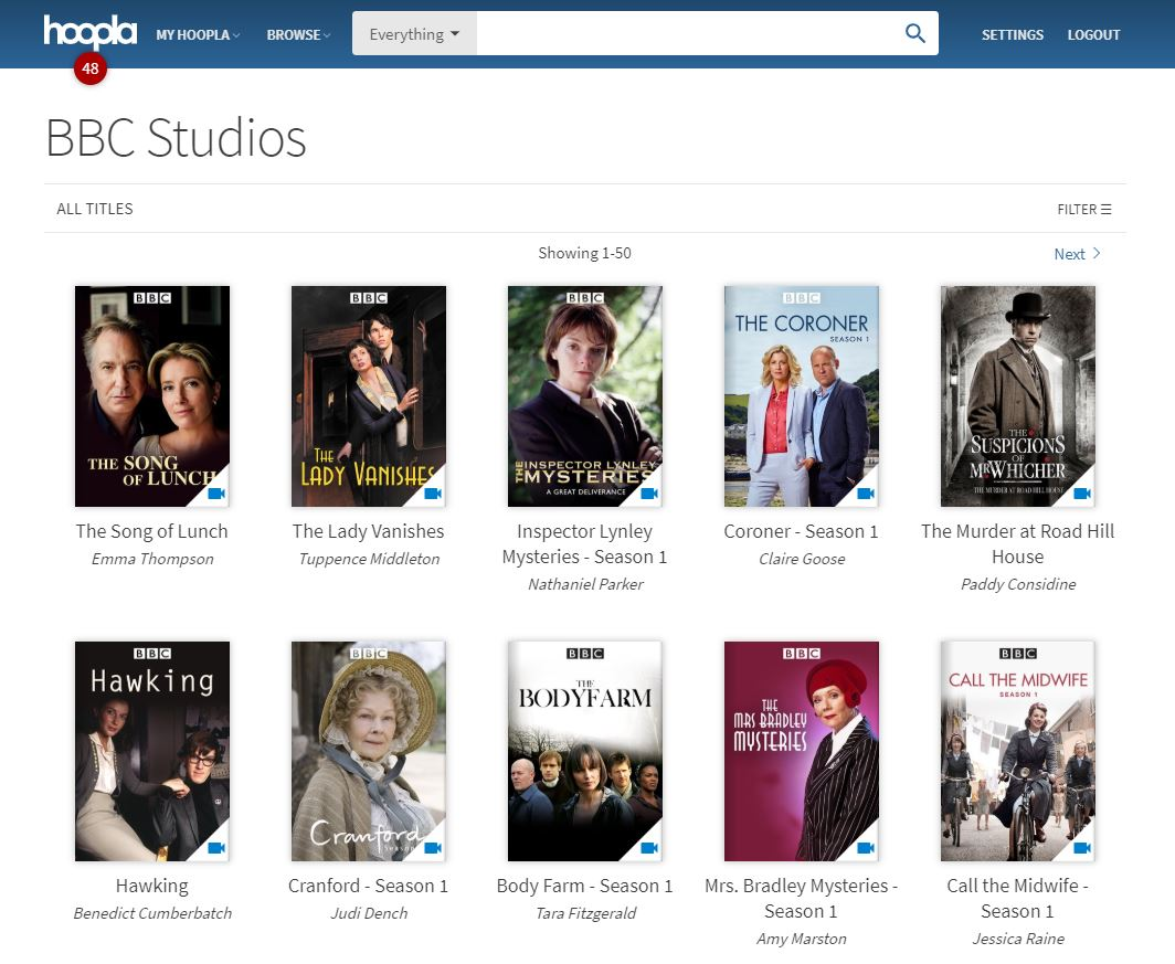 BBC Programming is Now FREE From Your Public Library Thanks