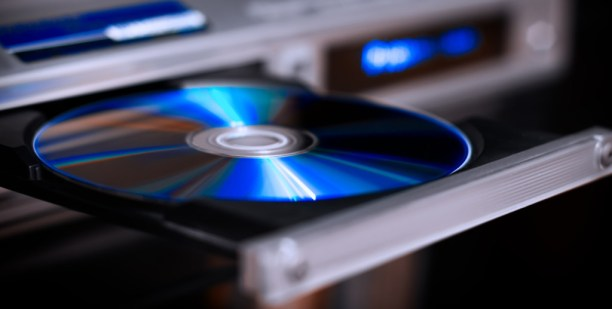 DVD disc inserting to video player