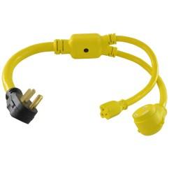 Electrical Plug X And Y Electric Wiring Diagram Conntek 14963 Nema 14 50p To Tt 30r 5 15r Rv Adapter