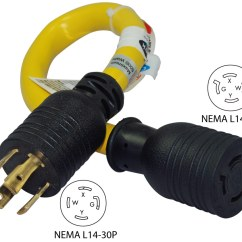Extension Cord Plug Wiring Diagram 2005 Ford Explorer Fuse Conntek Pl1430l1420 Nema L14-30p To L14-20r Pigtail Adapter