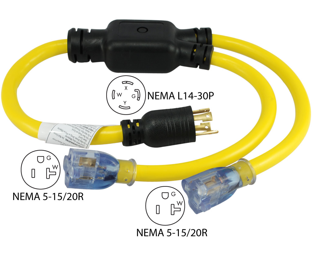 l14 30p wiring diagram 2 2004 nissan 350z bose conntek yl1430520s nema to 5 15 20r y adapter