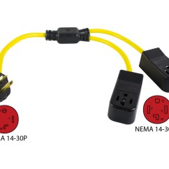 Electrical Plug X And Y Volcano Structure Diagram Conntek Y14301430 Nema 14 30p To 2 30r Dryer Outlet