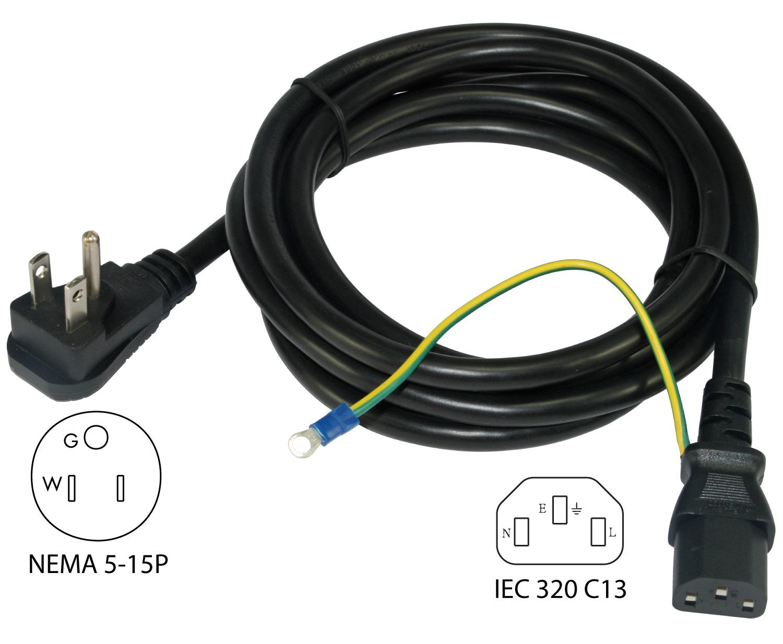 hight resolution of conntek 29336 dp nema 5 15p to iec c13 power cord power over ethernet wiring power cord wiring