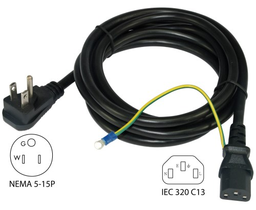 small resolution of conntek 29336 dp nema 5 15p to iec c13 power cord power over ethernet wiring power cord wiring