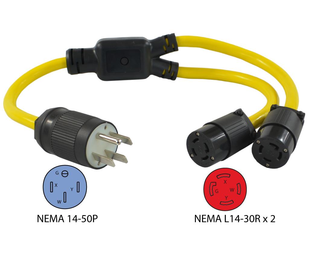 nema l14 30r wiring diagram 2 human skin unlabeled conntek y1450l1430 14 50p to generator y