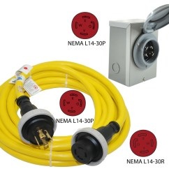 Nema L14 30p Wiring Diagram 2 8n Ford 30 Amp Inlet Box And Cord Combo Conntek