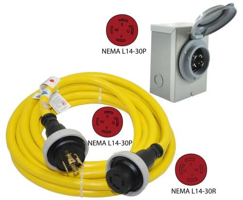 small resolution of nema l14 30p to nema l14 30r power cord nema l14 30