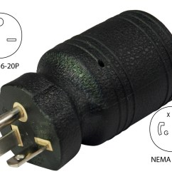 conntek 30113 nema 6 20p to l6 20r welder plug adapternema 6 20p male plug [ 1200 x 987 Pixel ]